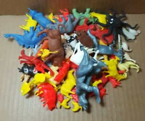 Vintage Mixed Lot Of Plastic Dinosaurs And Animals