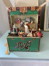 "New ListingVintage Enesco ""Treasure Chest of Toys"" Music Box Plays ""Toy Symphony"""