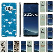 Thin Gel Design Protective Phone Case Cover for Samsung Galaxy S8,Cats Print