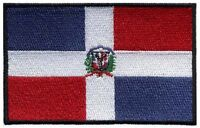 "Dominican Republic Flag Iron On Patch 3"" x 2"" inch Free Shipping (Medium)"