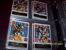 1986 McDonald's NFL FB  COMPLETE SET  All 29 Sets/All 4 Colors  SUPER RARE