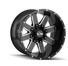 "17"" ION 141 Gloss Black Milled Wheels 35"" Tires MT 5x5.5 Dodge RAM Truck Package"
