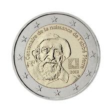 """France 2 euro pièce commémorative 2012 """"ABBE PIERRE"""" - UNC"""