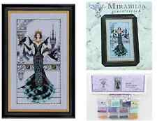 Mirabilia Cross Stitch Pattern and Embellishment Pack Raven Queen Md139