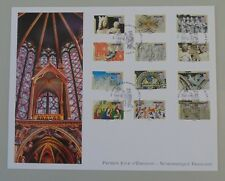 France 1er jour adhésif 877 à 888 6 septembre 2013 art gothique en france