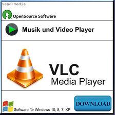 Media Player Software für VLC, DIVX, MPEG, AVI, MP4, WMV, DVD, CD, VCD, MKV