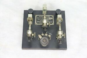 1917 WIRELESS SPECIALITY APPARATUS WWI RADIO TRIPLE CRYSTAL DETECTOR TYPE 183A
