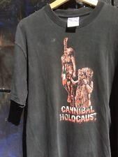 Vintage 90s Cannibal Holocaust Shirt Italian Horror Gore Fulci B Movie PunkMetal