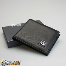 VOLKSWAGEN Bifold Wallet in Genuine Leather Men's Credit ID Card Holder VW Purse