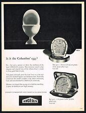 1950's Vintage 1956 Angelus 927 / 917 Horse Shoe Alarm Clock Watch Art Print AD