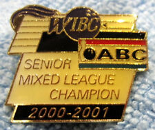 """2000-01 WIBC/ABC SR. MIXED LEAGUE CHAMPION"" METAL/ENAMEL PUSH-BACK BOWLING PIN"