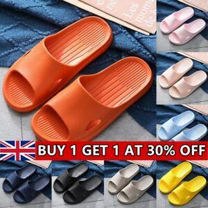 Womens Mens Soft Home Bath Slippers Unisex Non-slip Bathing Platform Slippers UK
