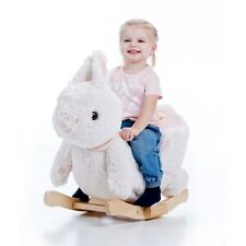 Bunny Little Rocker with music and zipper plush rocking animal by Gerardo's Toys
