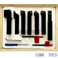 15mm 7pcs/set indexable carbide turning lathe cutter tool set with inserts