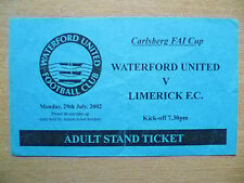 Partido de fútbol entradas: Carlsberg FAI Taza Waterford United v Limerick, 29/7/2002