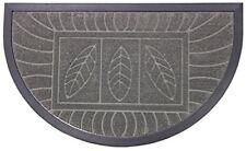 Tapis D'entrée 45x75cm Demi-lune feuilles Gris