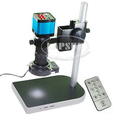 14MP HDMI 1080P USB Industry Microscope Video Camera Set C-mount Lens Stand Lamp