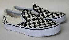 VANS Ladies Checkerboard Slip-On Pro Black & White Canvas Skate Shoes Size UK4