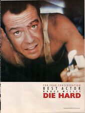 Lot of 4 Die Hard Oscar Consideration Trade ads 1989 BRUCE WILLIS,etc.