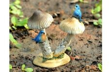 Miniature Dollhouse Fairy Garden - Bluebirds On Mushroom - Accessories