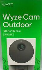 Wyze Outdoor Camera Starter Bundle, Security Camera, 32 micro sd card included.
