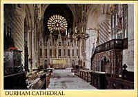 Kirchen Motiv-Postkarte Kirche Church Großbritannien DURHAM Cathedral England AK