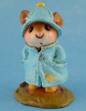 APRIL SHOWERS by Wee Forest Folk, WFF# M-180, BLUE with Duck