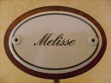 Kräuterschild Kräuterstecker Pflanzschild Emaille Emailschild Melisse 25cm