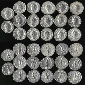17 ANCIENT ROMAN SILVER DENARIUS COINS (AUTHENTIC > NICE LOT!!) YOU ID > NO RSRV