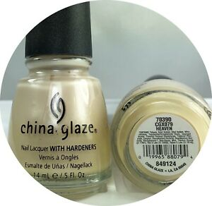 China Glaze Nail Polish Heaven 079 Pearl Beige Micro Shimmer Lacquer Hardeners