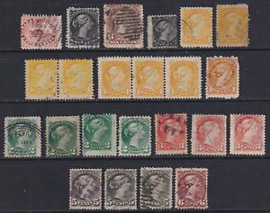 Canada  1859-97 Used Stamp Lot  HICV