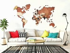 Travel World Map Wood Map Wall Wood Living Wall Map Wooden Map XL Size