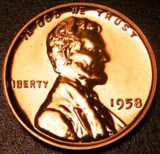 1958 Gem Proof Lincoln Wheat Backs Penny US Cents
