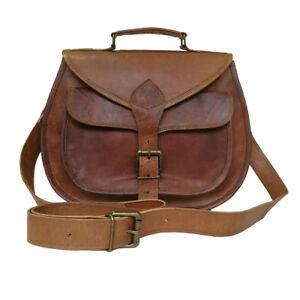 Genuine Leather Womens Handbag Purse Sling Crossbody Evening Satchel Bag