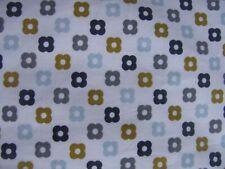 ~ 23cm x 40cm Orla Kiely Multi Flower Spot in Rockpool Lightweight Cotton New