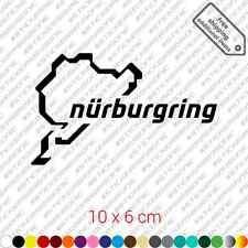 Nurburgring car sticker decal vinyl - Black