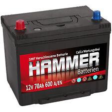 Autobatterie Hammer 12V 70Ah +Links Asia Starterbatterie ersetzt 72 74 75 80 Ah