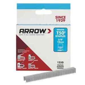 "Arrow 506 T50 3/8"" Staples, 1250 Count"