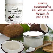 Coconut Milk Body Scrub - 12 oz for Face & Body Exfoliating 100% Natural Best...