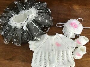 HAND KNITTED BABIES  SET