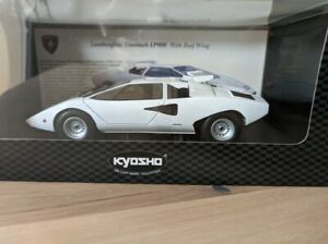 NEW Lamborghini Countach Lp400 With Roof Wing White Kyosho 08324W 1/18
