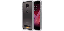 Verizon OEM Two Tone Bumper Case for Motorola Moto Z2 Force Edition BLACK&WHITE