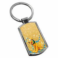Pluto Keyring Chrome Metal New Key Chain Ring Fob Comes With Free Gift Box