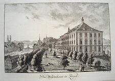 Zürich  das Waisenhaus Schweiz seltener echter alter  Kupferstich 1820 Nr. 1