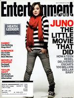 Entertainment Weekly Magazine February 8 2008 Ellen Page Juno Heath Ledger