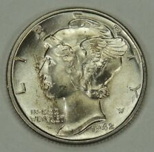 1942-P 10C Mercury Silver Dime  UNC with some toning (051218)