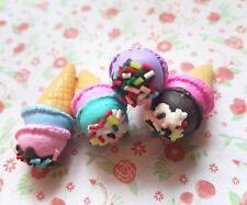 4 x Sprinkle Ice cream 3D Polymer Clay Embellishment Decoden Kawaii Cabochon