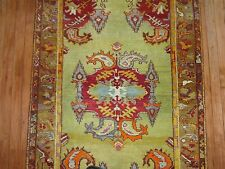 Antique Turkish Melas Mudjur Oushak Ushak Rug Size 3'2''X5'8''