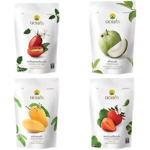 DOI KHAM Delicious Dehydrated Fruits Healthy Foods Snacks Vegan Guava Mango 140g