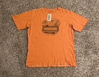 Margaritaville Mens T-Shirt XXL Orange Truck Guitar Graphic Spell Out Logo NWT